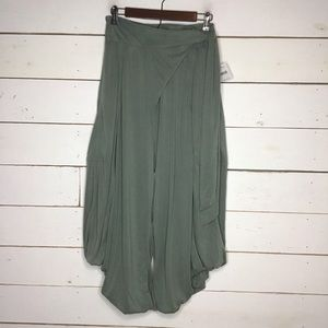 New Free People Venice Harem Pant, Olive Ash Green